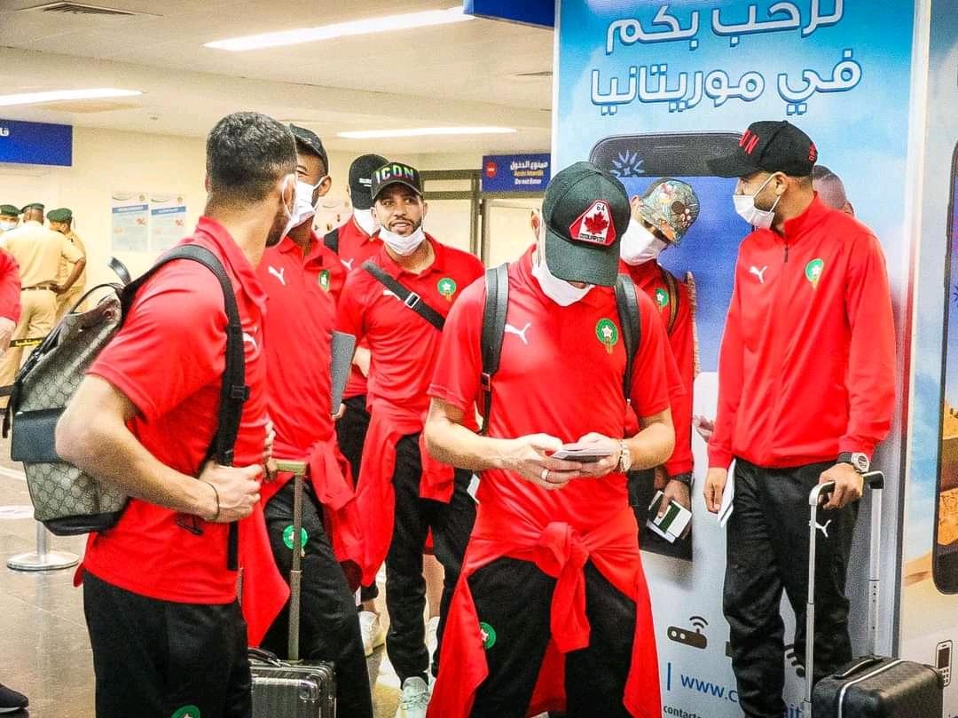 المنتخب المغربي يصل العاصمة نواكشوط (FFRIM(