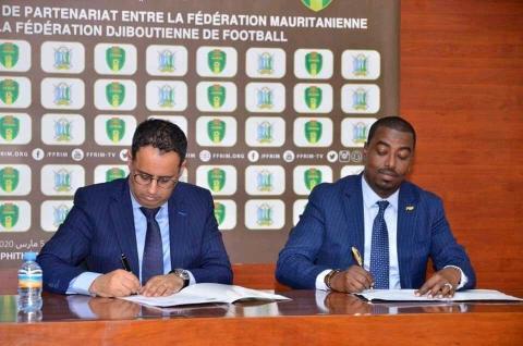 اتفاقية تعاون بين الاتحاد الموريتاني والجيبوتي لكرة القدم (FFRIM)