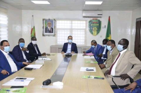 صورة من اجتماع الاتحادية لكرة القدم (FFRIM)