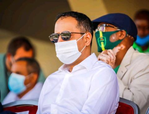 أحمد ولد يحي رئيس الاتحادية لكرة القدم )FFRIM(